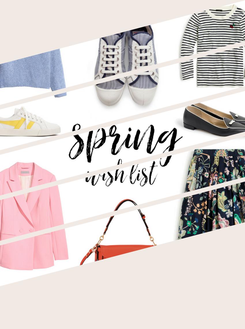 A Short Fashion Wish List for Spring