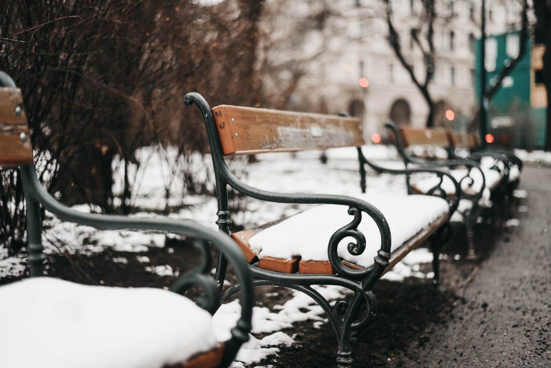Vienna in winter snow