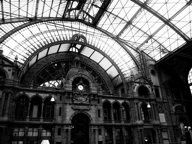 Antwerp in Black And White