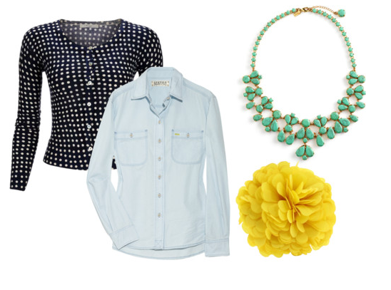 Style Me Pretty: Dots and Denim