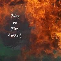 Blog On Fire Award + Giveaway Winner