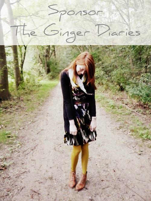 Sponsor The Ginger Diaries in October!