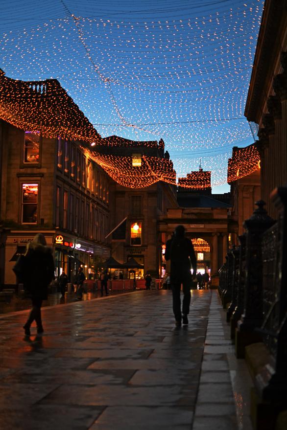 Glasgow By Night: Royal Exchange Square & Caffè Nero