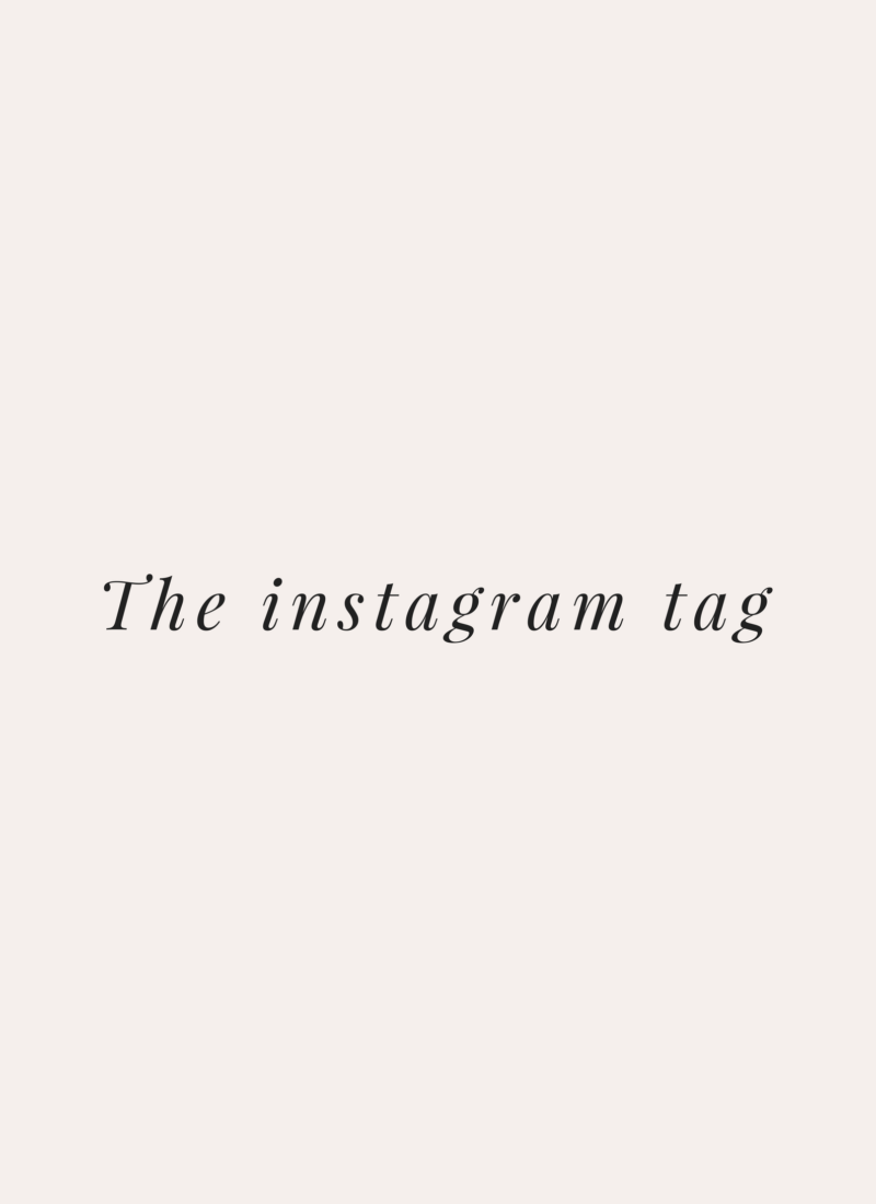 The Instagram Tag