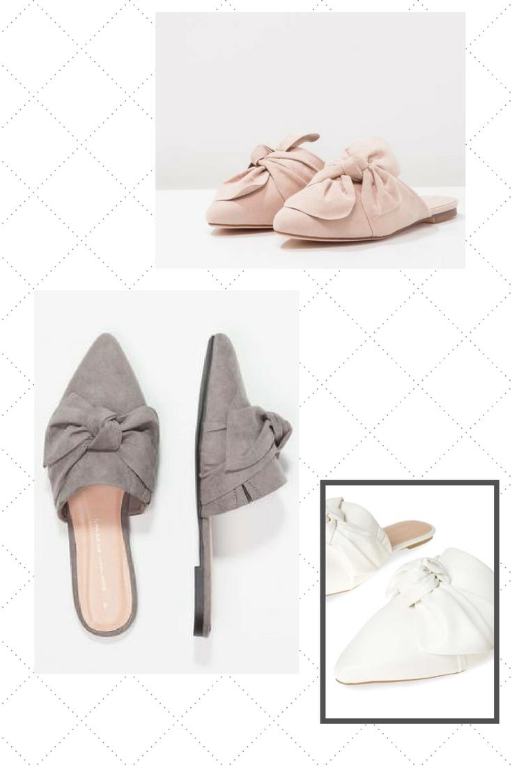 Mules Spring 2018 - Pastel, white, nude, grey