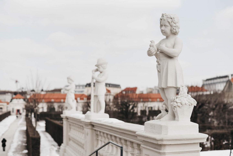 Belvedere Vienna Statues