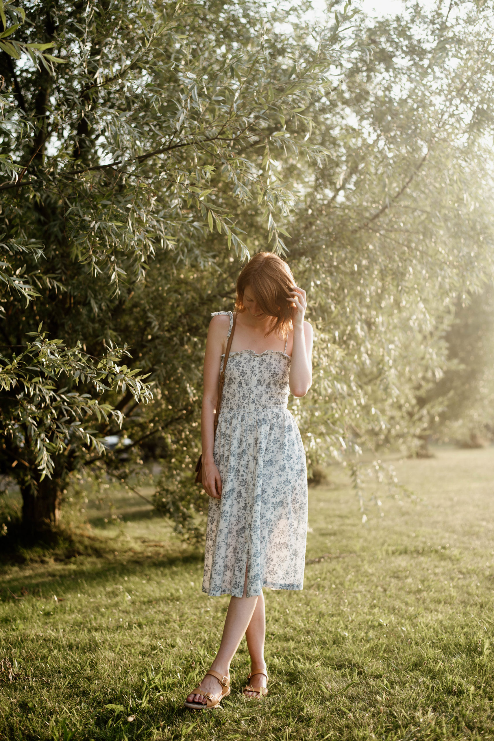 A Simple Floral Sun Dress
