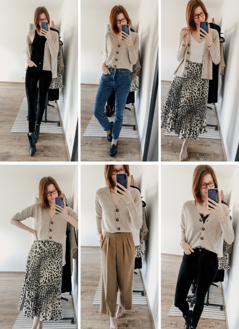 6 Ways to Wear a Beige Cardigan