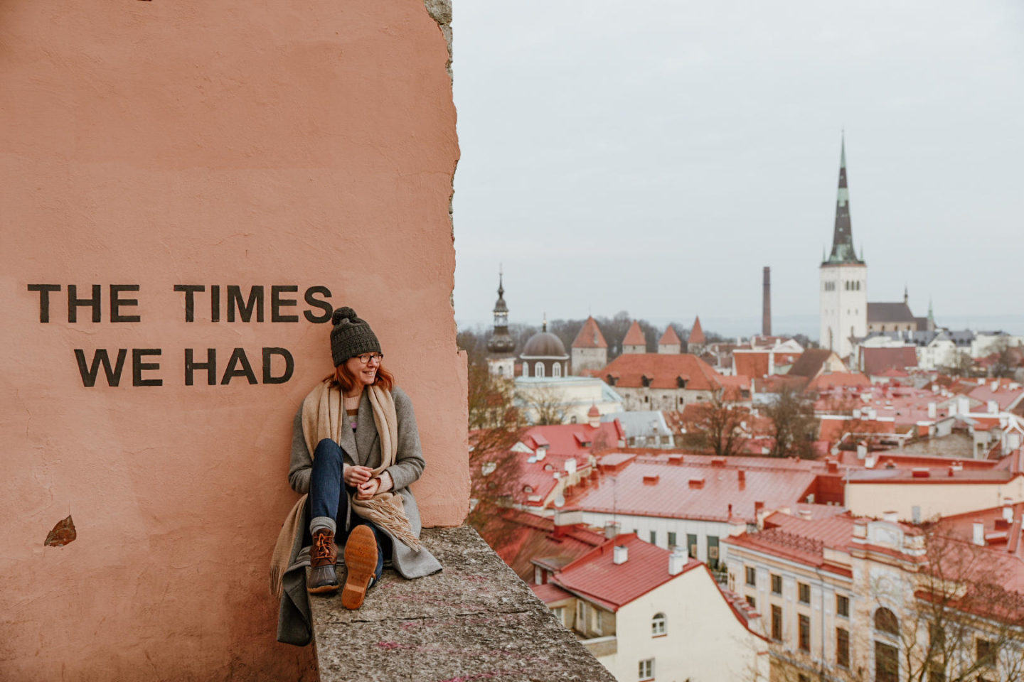 Girl in front of Tallinn The Times We Had Wall