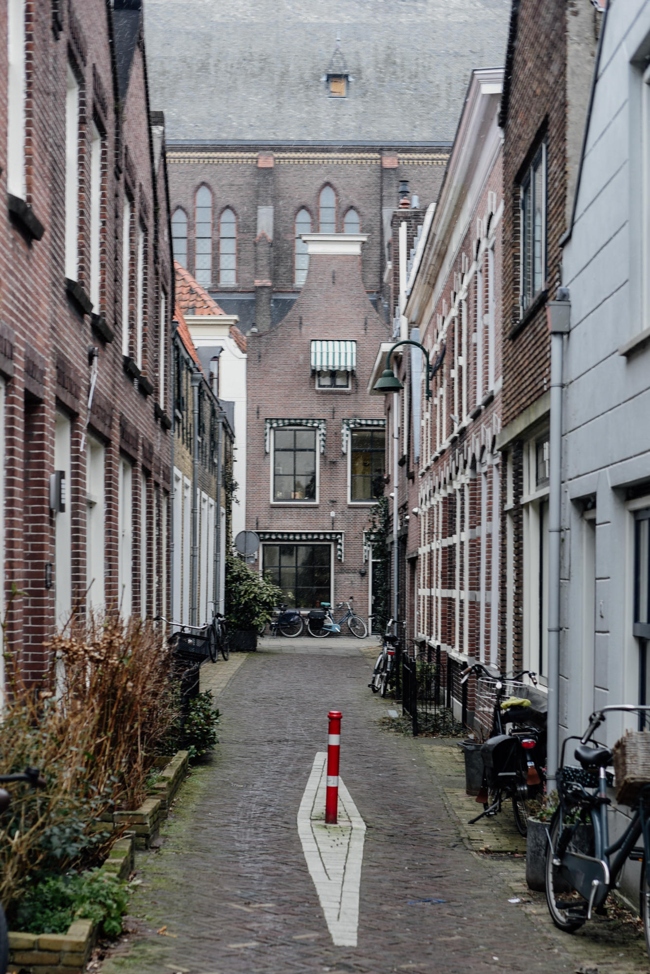Street in Gouda The Netherlands