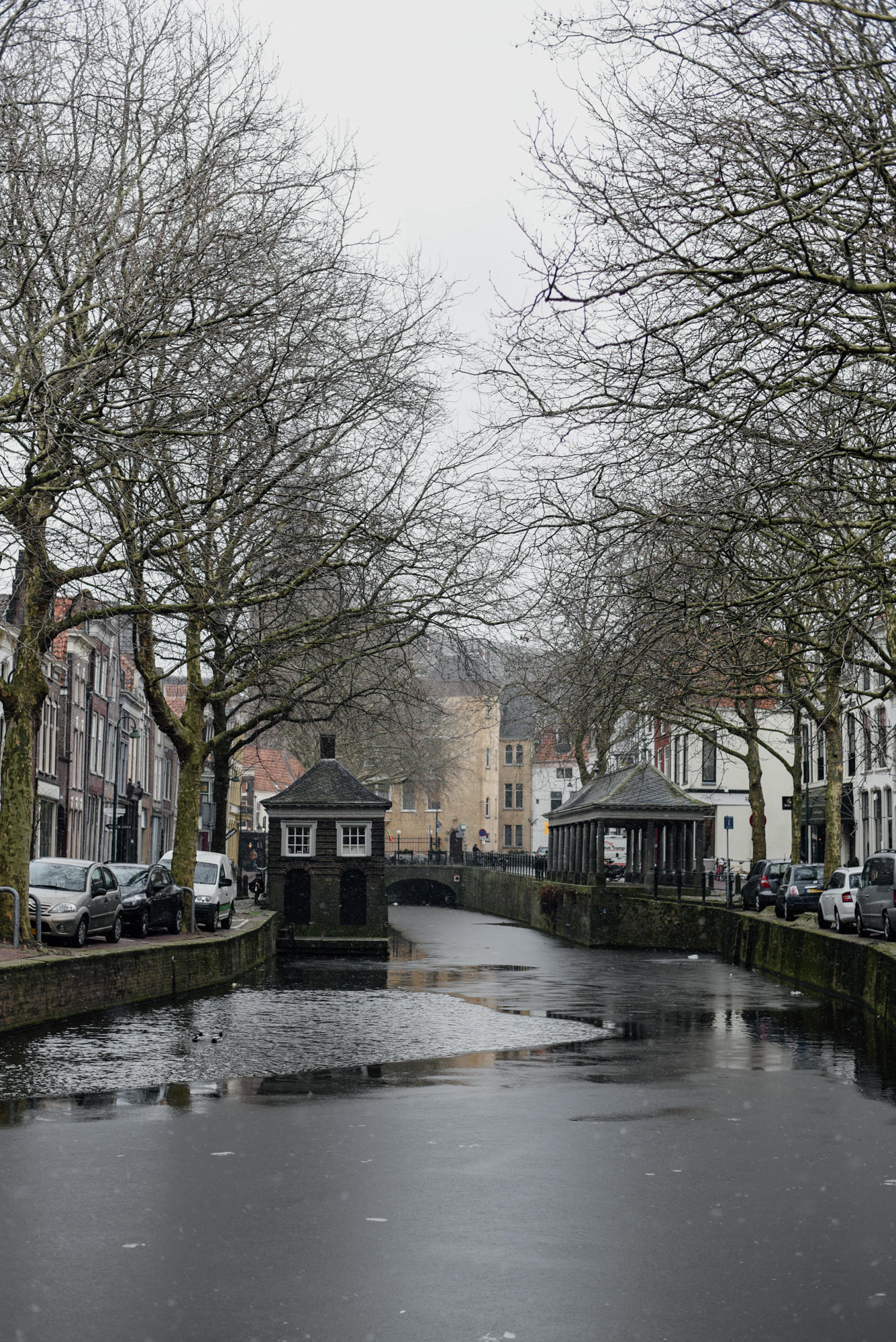 Canals in Gouda The Netherlands