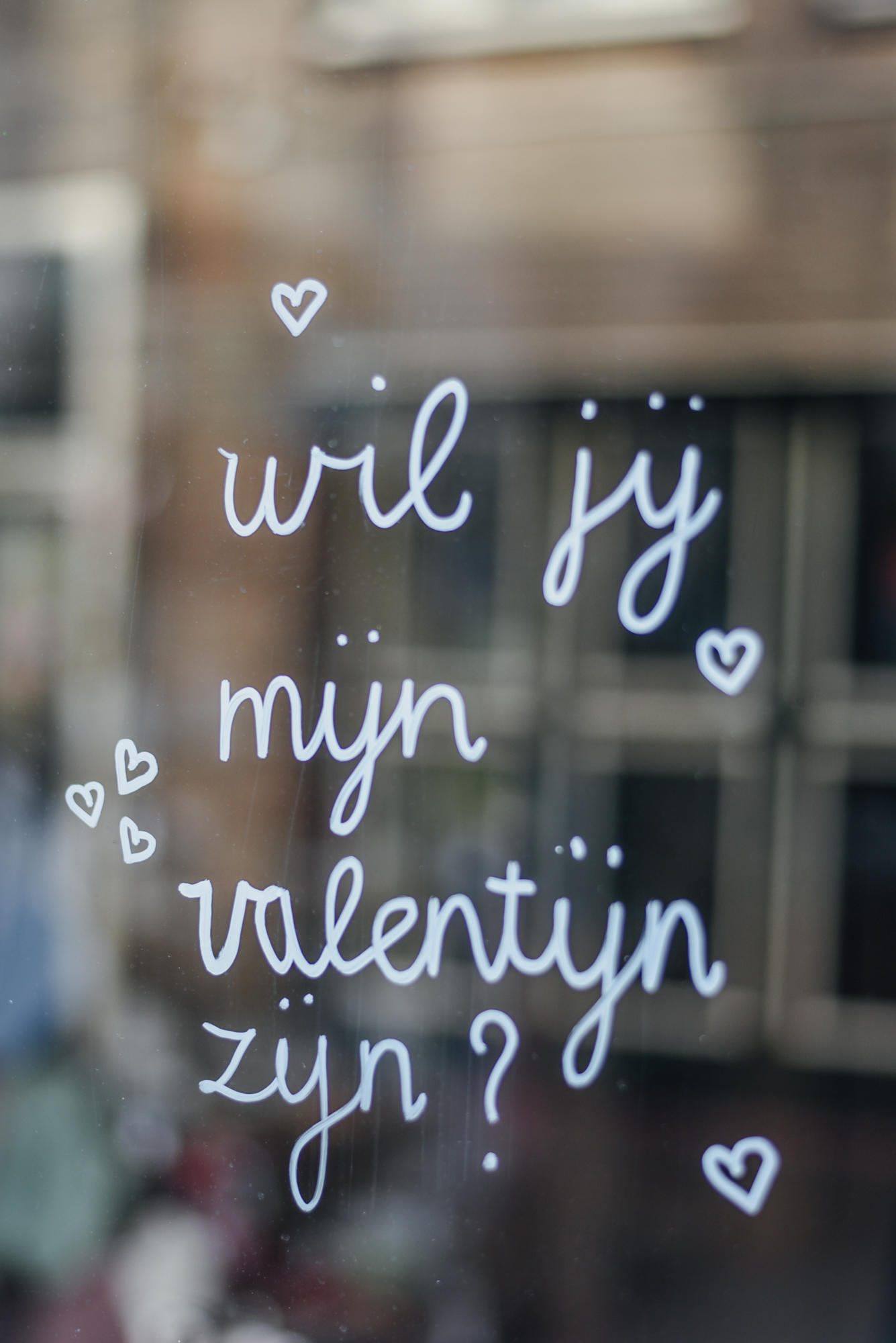 Window paint valentines day