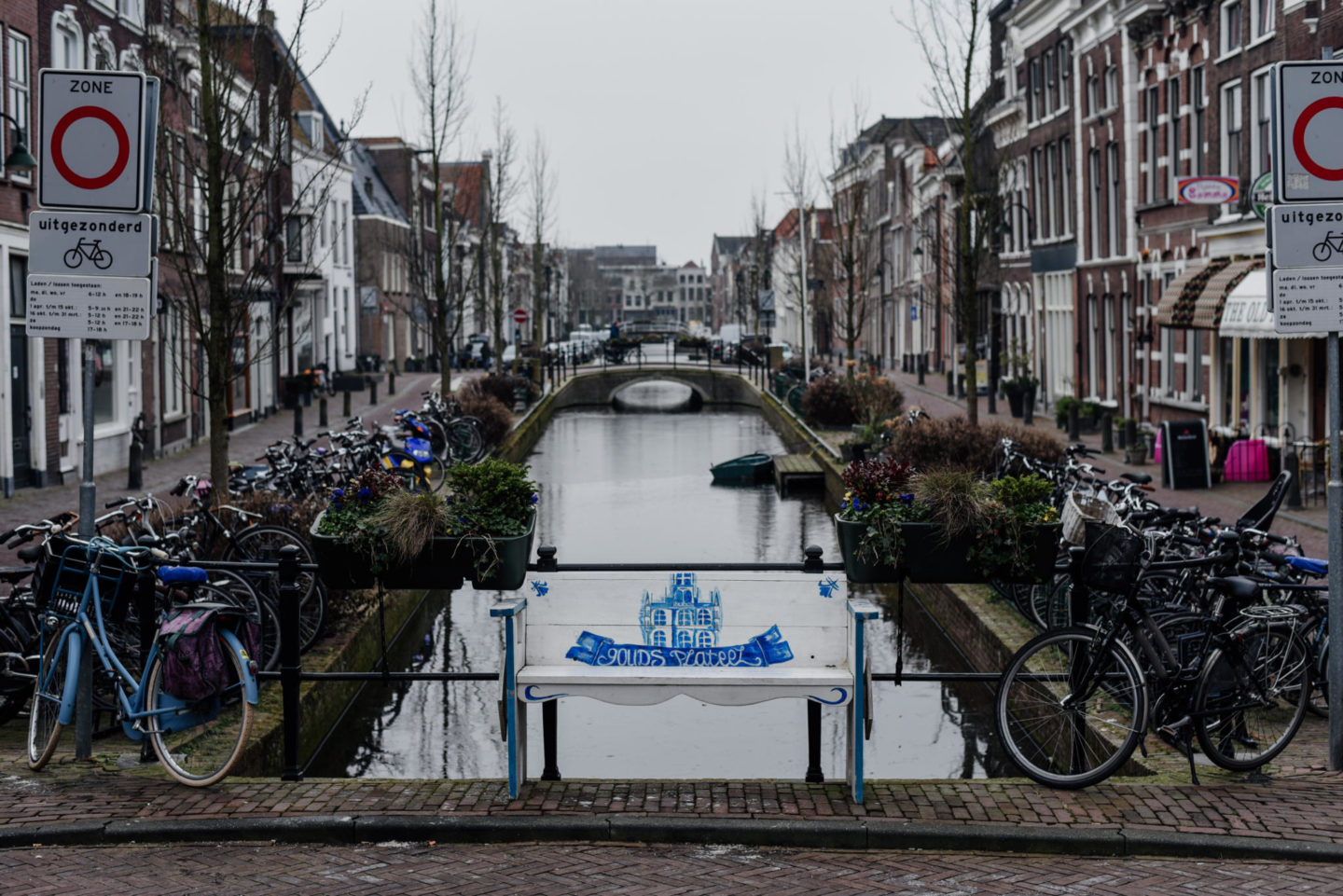 Water Canals in Gouda The Netherlands