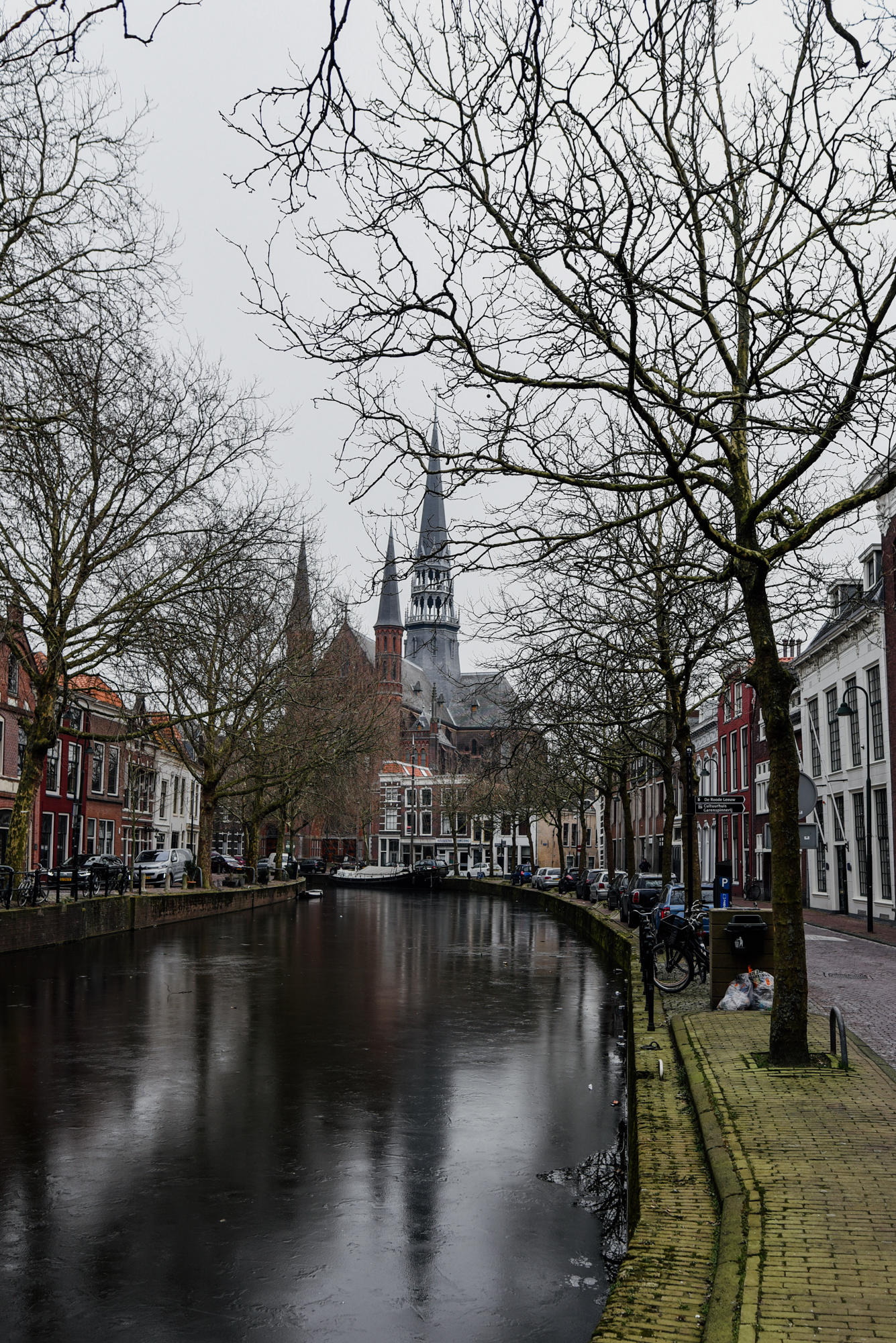 Water Canal views in Gouda The Netherlands