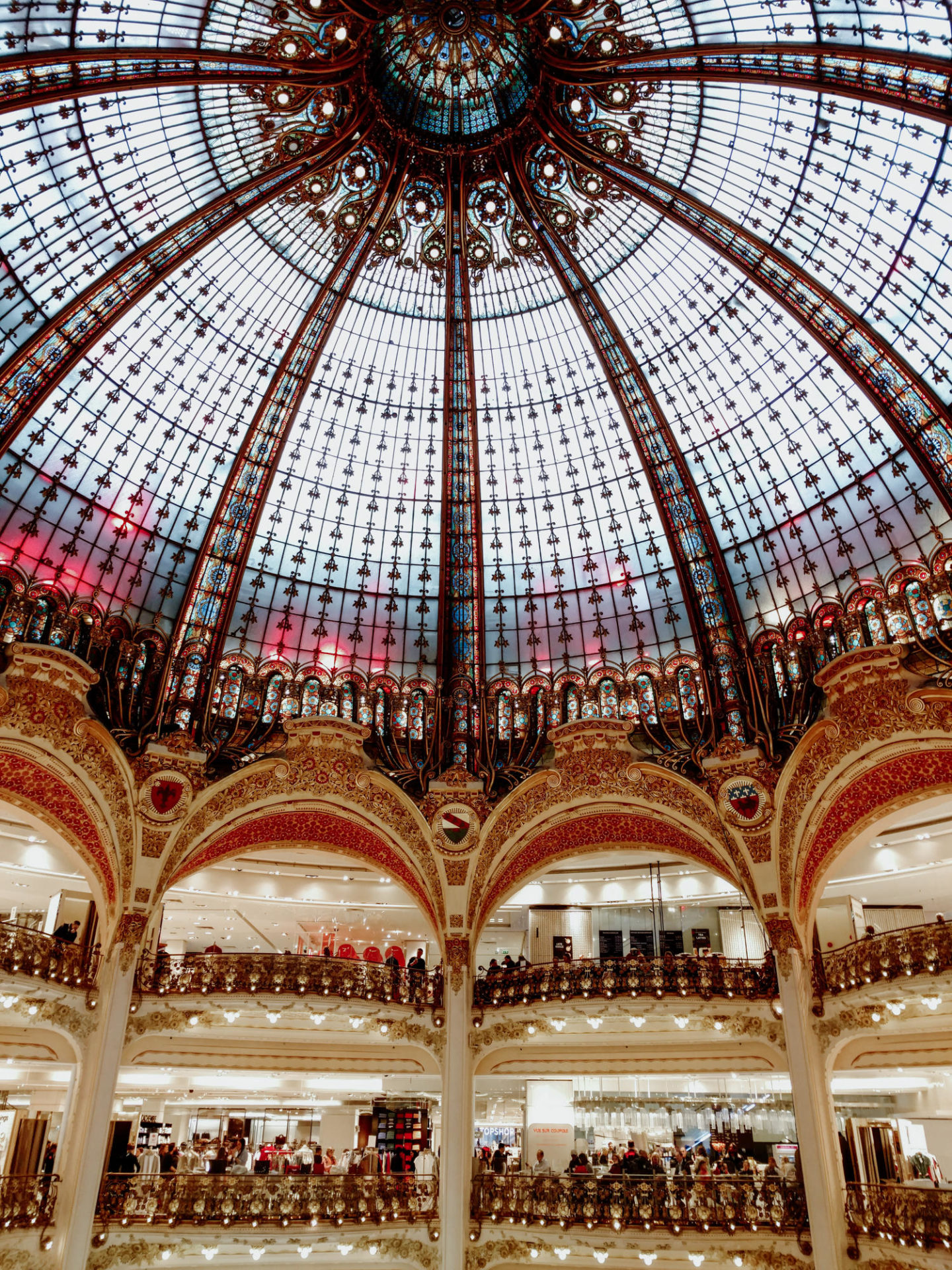 Glass dome in Galleries Lafayette