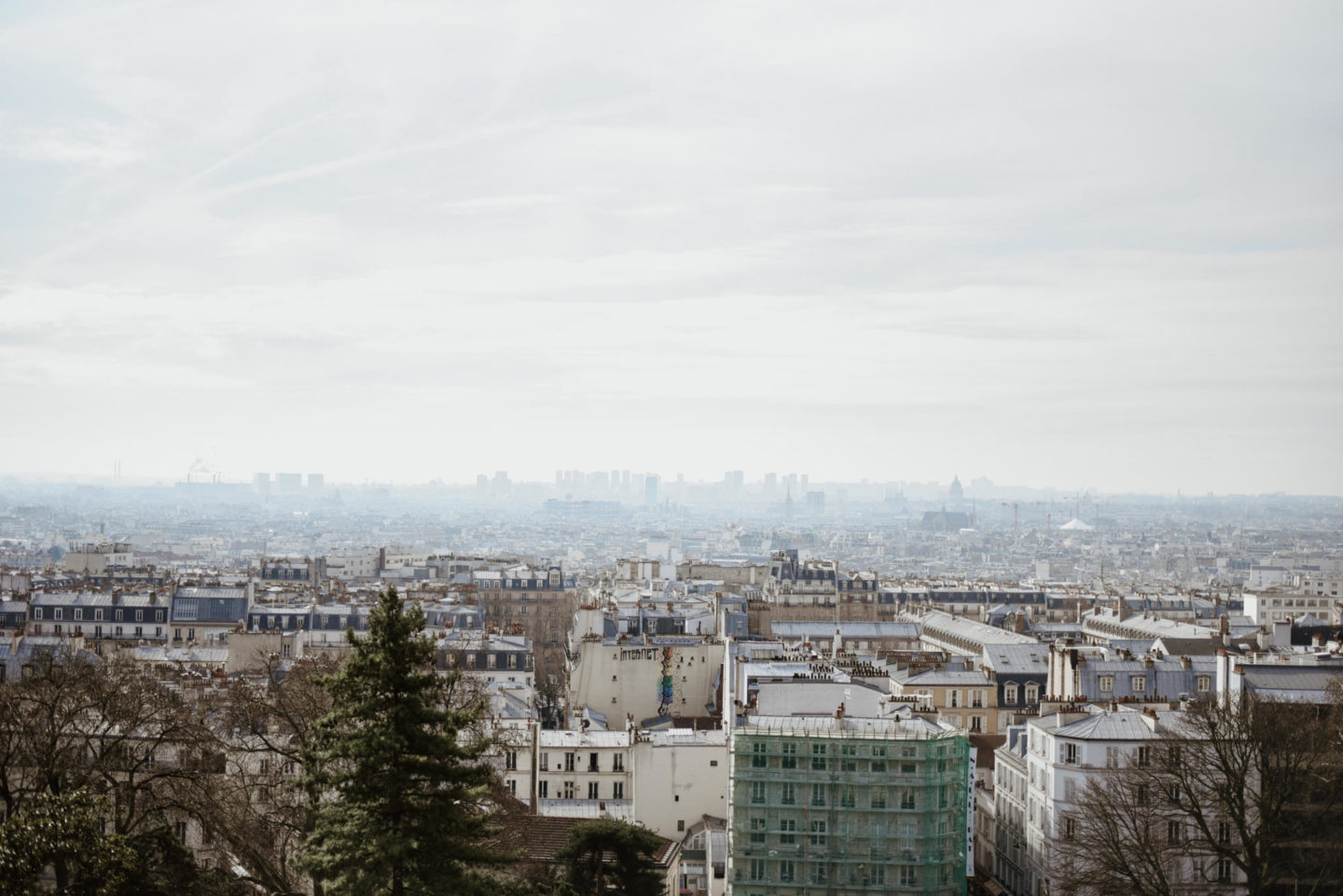 paris skyline from sacre coeur in paris