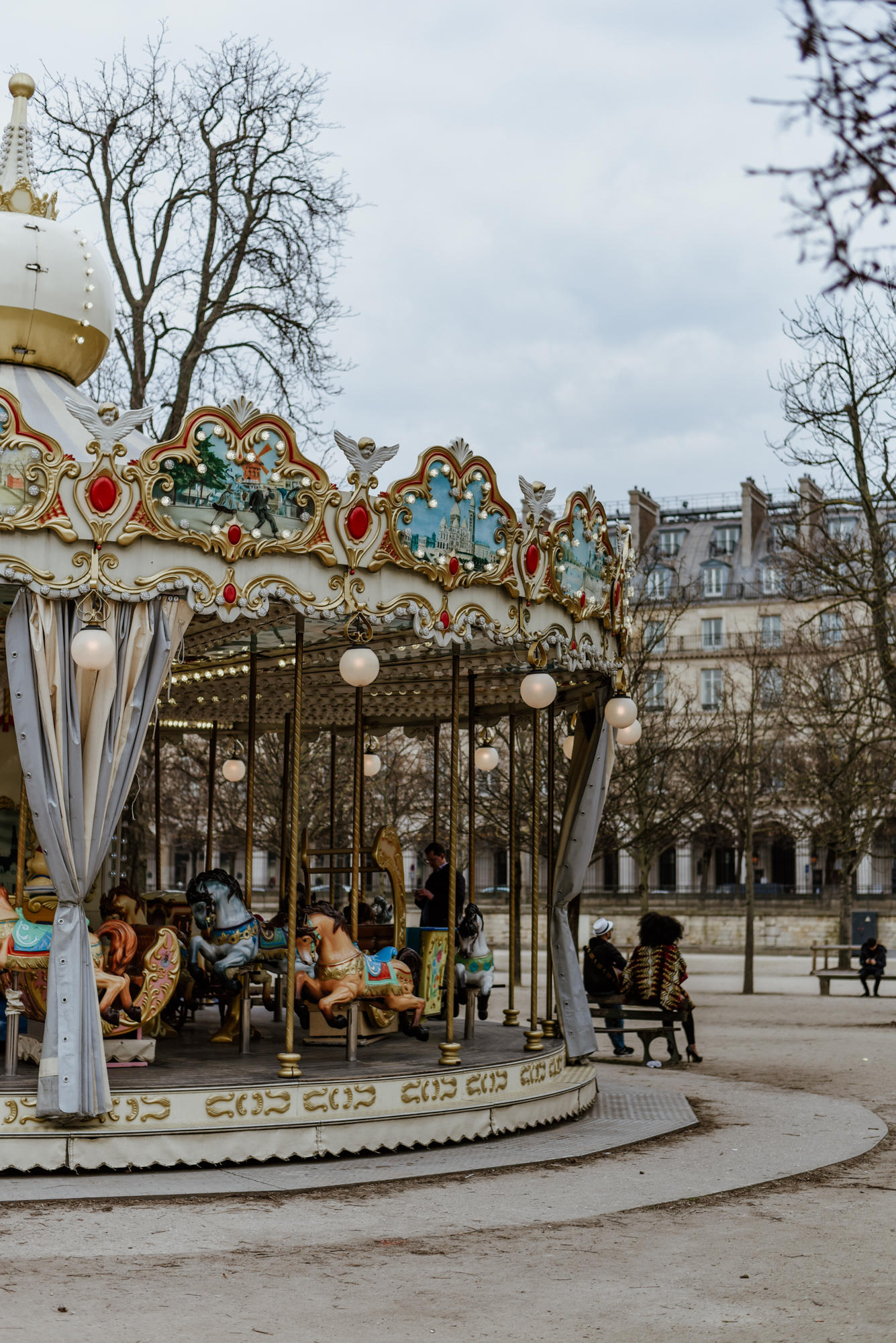 old carousel in Jardin des tuileries