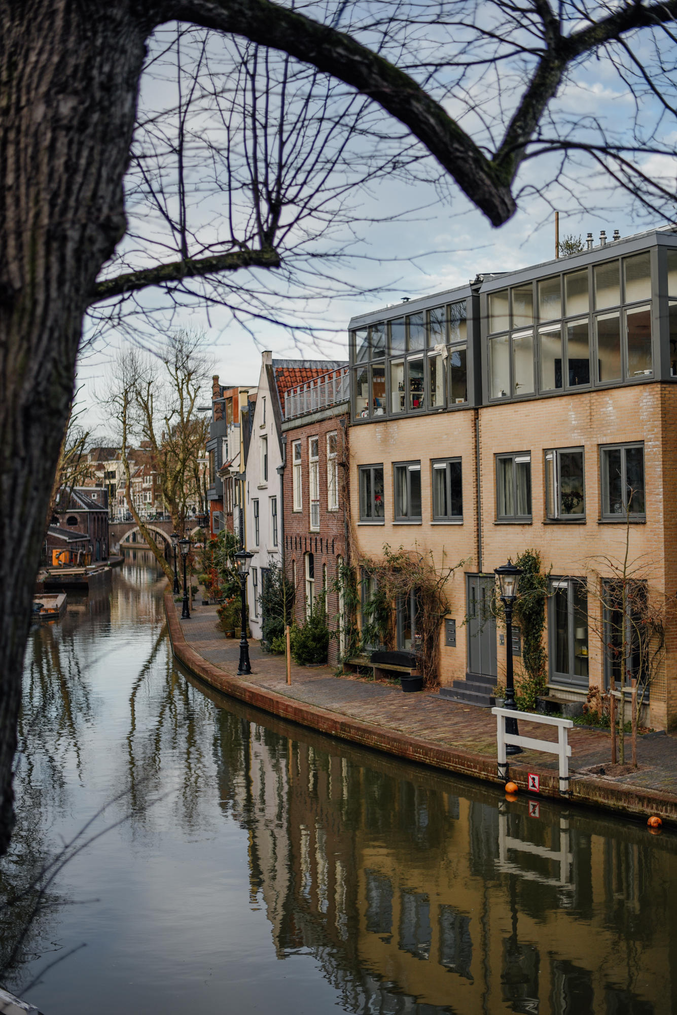 Canal houses in Utrecht The Netherlands