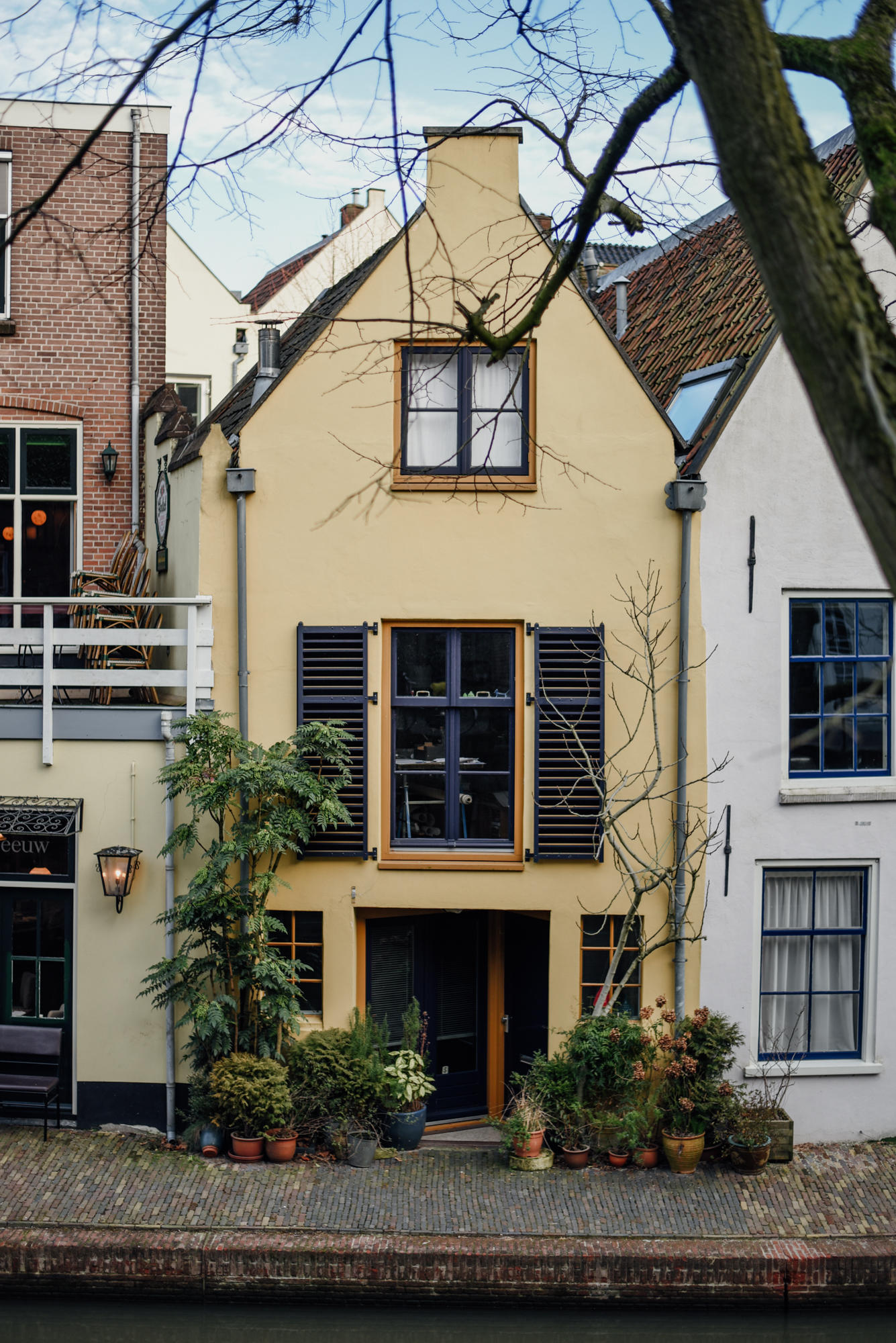 Canal house in Utrecht The Netherlands