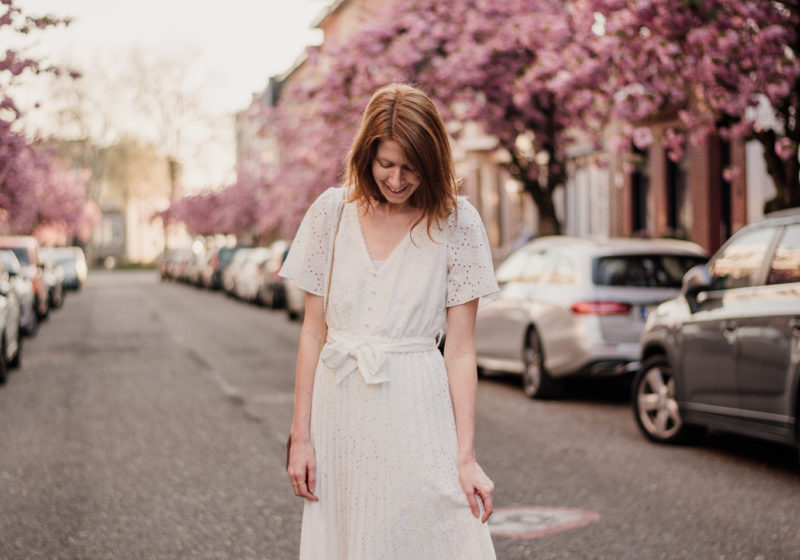 Outfit with Sézane dress for spring